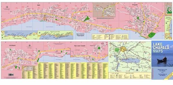 Lake Chapala Maps, layout